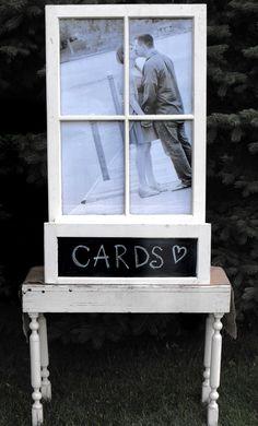 Vintage Window Box Card or Program Holder  www.alltheragedecor.com
