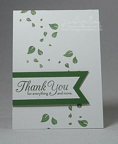 Make clean and simple monochromatic cards with one image and ink using the Perpetual Birthday Calendar stamp set and Triple Banner Punch from Stampin' Up! Stampin Up Canada, Perpetual Birthday Calendar, Leaf Cards, Fall Cards, Homemade Cards, Thank You Cards, Craft Projects, Card Making, Card Ideas