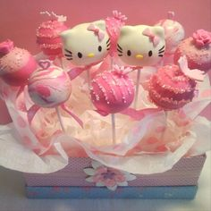 Hello Kitty cake pops I know a little girl who would love these