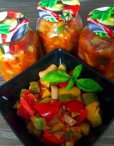 Przetowy w słoiku na zimę Snack Recipes, Snacks, Watermelon, Salsa, Recipies, Chips, Food And Drink, Jar, Stuffed Peppers