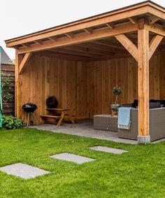 Backyard Walkway, Backyard Pavilion, Backyard Plan, Small Backyard Patio, Backyard Seating, Outside Patio, Patio Gazebo, Backyard Patio Designs, Pergola Plans