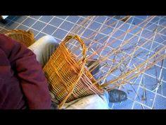 Chiusura di un cesto con manici doppi e treccia a 2 capi. 1 di 3 - YouTube