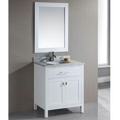 Bathroom Vanity 30 Inch classic 30 inch grey bathroom vanity with white carrera marble top
