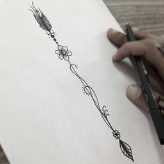 Resultado de imagen para flechas entrelazadas tatuaje