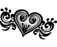 Heart Tattoo Design Body Drawing Art