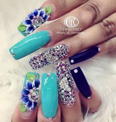 Love the color but way to long of nails for me...
