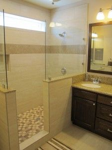 walk in shower with window and no door - Google Search