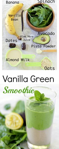 classic-vanilla-green-smoothie healthy vegan gluten free smoothie perfect for back to school breakfast