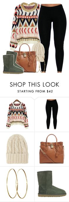 """READ D!"" by lulu-foreva ❤ liked on Polyvore featuring Eugenia Kim, MICHAEL Michael Kors, Jennifer Meyer Jewelry and UGG Australia"