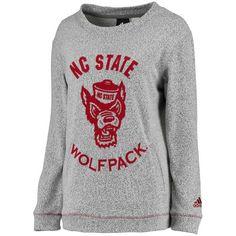 311ff3641bd Women s adidas Gray NC State Wolfpack Slouchy Crew Sweatshirt