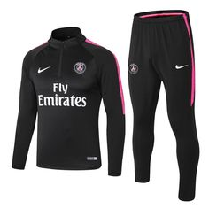 PSG 1819 Black Kids ( Youth) Tracksuit Slim Fit Item Specifics Brand: Nike Gender: Kids Model Year: Material: Polyester Type of Brand Logo: Embroidered Type of Team Badge: Embroidered Soccer Outfits, Nike Outfits, Sport Outfits, Psg, Training Tops, Soccer Training, Black Kids, Black Men, Kappa Sportswear