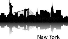 Silhouette of New York stock vector