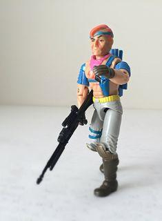 Vintage GI Joe Action Figure Zandar - 1980s Hasbro GI Joe Toy - Zartan's Brother, Cobra The Enemy - GI Joe, A Real American Hero