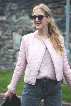 Pink leather jacket   DearDiary-fashion #kissmylook