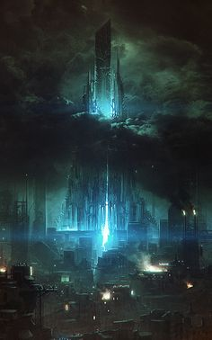 New science fiction illustration cyberpunk sci fi ideas Fantasy City, Fantasy Places, Sci Fi Fantasy, Fantasy World, Space Fantasy, Cyberpunk City, Futuristic City, Future City, Sci Fi City