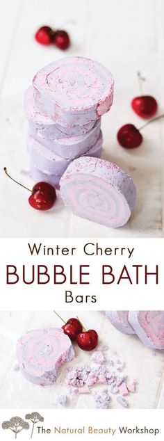 The best DIY projects & DIY ideas and tutorials: sewing, paper craft, DIY. DIY Skin Care Recipes : Make Your Own Winter Cherry Bubble Bath Bars -Read Bubble Bath Bomb, Bubble Fun, Bath Bubbles Diy, Bubble Baths, Diy Bath Bombs, Making Bath Bombs, Bubble Bar Recipe, Homemade Bubbles, Bubble Bath Homemade