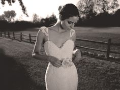 GARDENIA | by Lauren Elaine Bridal | Hand-embroirdered french corded lace gown with peek-a-boo detailing and ruffled lace sleeve-lettes. | www.Lauren-ElaineDesigns.com | Inquiries to salesrep@lauren-elainedesigns.com