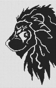 Tribal Lion - Cross Stitch Pattern