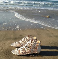 Trendy Fashion, Fashion Ideas, Ivory Sandals, Tag, Beautiful Shoes, Summer Collection, Glamour, Beach, Style