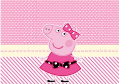 Miss Peppa Pig - Mini Kit Festa Infantil! Peppa Pig Cartoon, Peppa Pig Printables, Free Printables, Peppa Pig Familie, Familia Peppa Pig, Aniversario Peppa Pig, Cumple Peppa Pig, Beatles Party, Curious George Party