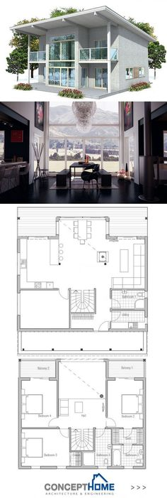 Exterior House Small Floor Plans Ideas For 2019 Free Floor Plans, Small Floor Plans, Small House Plans, Casas Containers, Bathroom Floor Plans, Country Kitchen Designs, Cabin Plans, Modern House Plans, House Layouts