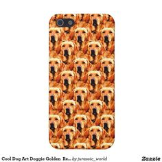 Cool Dog Art Doggie Golden  Retriever Abstract Cover For iPhone SE/5/5s
