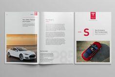 Tesla Model S Catalog on Behance