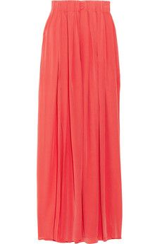 Pleated Maxi Skirt by Thakoon Addition.