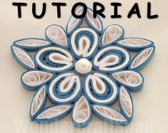 DIY paper quilled Christmas ornament, christmas decoration pattern, quilling tutorial, star pattern, instant download, pdf