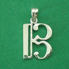 Chiave di contralto argento collana ciondolo fascino di yhtanaff