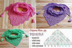 Exceptional Stitches Make a Crochet Hat Ideas. Extraordinary Stitches Make a Crochet Hat Ideas. Poncho Au Crochet, Crochet Shawls And Wraps, Knitted Shawls, Crochet Scarves, Crochet Clothes, Crochet Chart, Love Crochet, Crochet Stitches, Knit Crochet