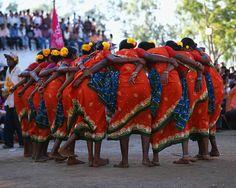 Tribal dancers at a local festival, Orissa, India