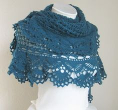 Crocheted Shawl.
