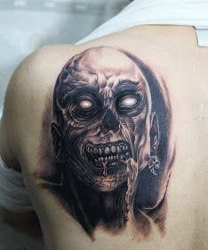 hardcore zombie tattoo design