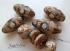 Polymer Clay Beads, Polymer Clay Creations, Lampwork Beads, Porcelain Jewelry, Ceramic Jewelry, Ceramic Beads, Handmade Beads, Clay Tutorials, Metal Clay