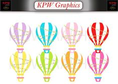 Hot Air Balloon Clip-art Set in a PNG format. Personal & Small Commercial use Hot Air Balloon Clipart, Balloon Background, School Projects, Balloons, Clip Art, Scrapbook, Colours, Invitations, This Or That Questions