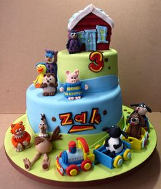 Timmy Time Cake Boy Cakes, Cakes For Boys, Shaun The Sheep Cake, 2nd Birthday, Birthday Parties, Timmy Time, Fondant Cakes, Amazing Cakes, Cake Decorating