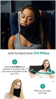 Trtl Pillow. Scientifically proven long-haul flight neck support pillow. #affiliate