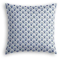 Loom Decor Nautical Blue Scallop Fabric Throw Pillow By (125 CAD) ❤ liked on Polyvore featuring home, home decor, throw pillows, blue toss pillows, chevron throw pillows, blue home decor, blue home accessories and blue accent pillows