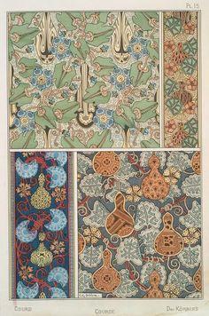 Eugène Grasset (Swiss, 1841-1917). La plante et ses applications ornementales. Gourd. Pl. 15. 1896.