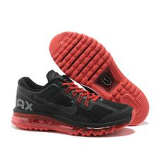 Only Need $80.99 Plus Free Shipping, Mens Nike Air Max 2013 Black Red  Running On