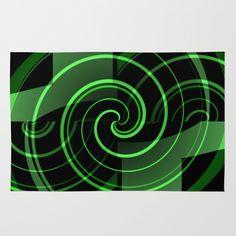 Mint & Licorice Fudge - Pattern Area & Throw Rug