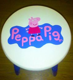 These wonderfully colourful kids stools would be great in any kids bedroom or playroom. Each hand painted with a lot of time, love and a steady hand. Hand Painted Stools, Annie Sloan Old White, Eggshell Paint, Kids Stool, White Chalk Paint, Egg Shells, Peppa Pig, Kids Bedroom, Playroom