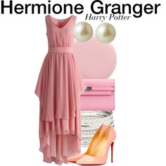 Hermione Granger - Harry Potter by nerd-ville on Polyvore featuring Chicwish, Christian Louboutin, Hermès, Charlotte Russe, Carolee,…