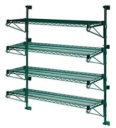 14 Deep x 60 Wide x 63 High Adjustable 4 Tier Freezer Wall Mount Shelving Kit -- Check out the image by visiting the link. (This is an affiliate link) #FloatingShelves