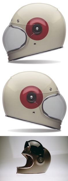 This is the Bullitt helmet by Bell, it's based on the design of the same name shown by Chad Hodge in 2012 and it's designed to slot neatly into the Motorcycle Outfit, Motorcycle Helmets, Motorcycle Accessories, Retro Helmet, Vintage Helmet, Bmw Scrambler, Skyteam Ace, Scooters, Cafe Racer Bikes