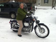 Yep this is my new Harley....but the snow needs to GO!