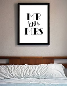 MR and MRS Instant download printable poster, black & white typography wall art posters, Home decor, Wall decor, Digital art, bedroom decor http://etsy.me/2zrLRXa #art #print #digital #black #white #instantdownload #printableposter #printableart #loveposter #graphicdesign #etsy