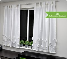 DIY embellished curtains
