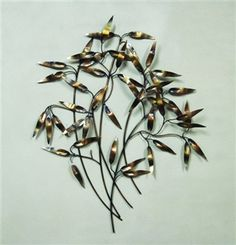Bamboo Leaves Metal Wall art. great gift under $50